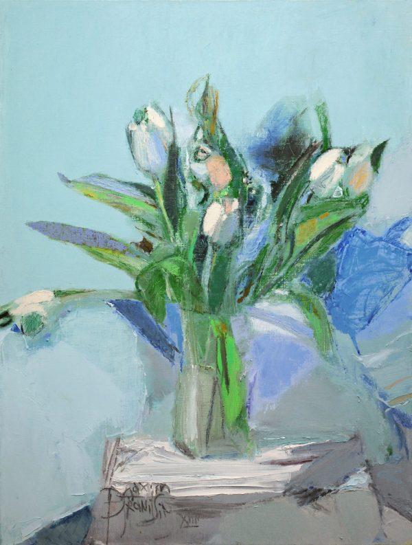 Blaues Tulpenbild